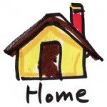 Home cartoon HOME caption